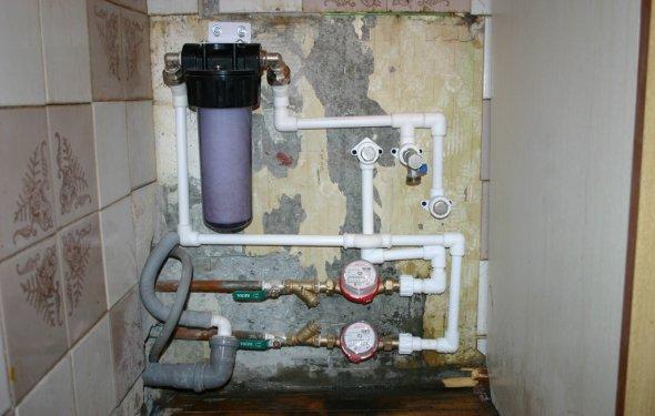 Фильтр для воды монтаж